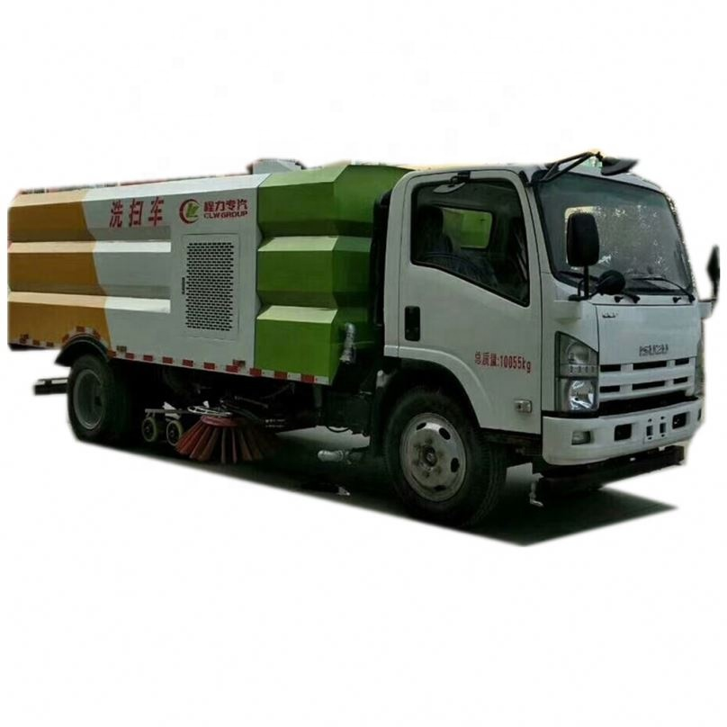 New design road sweeping and washing truck namely road washer and road sweeper for sale