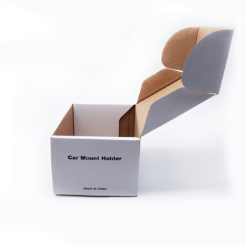 Corrugated car mount holder paper packaging box customised