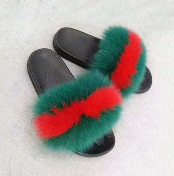 e4942e00ad285 New Custom Hot Sale Colorful Fox Fur Slides - Buy New Style Mink Fur  Slippers,Hot Sale Mink Fur Slippers For Women,Summer Mink Fur Sandals  Product on ...