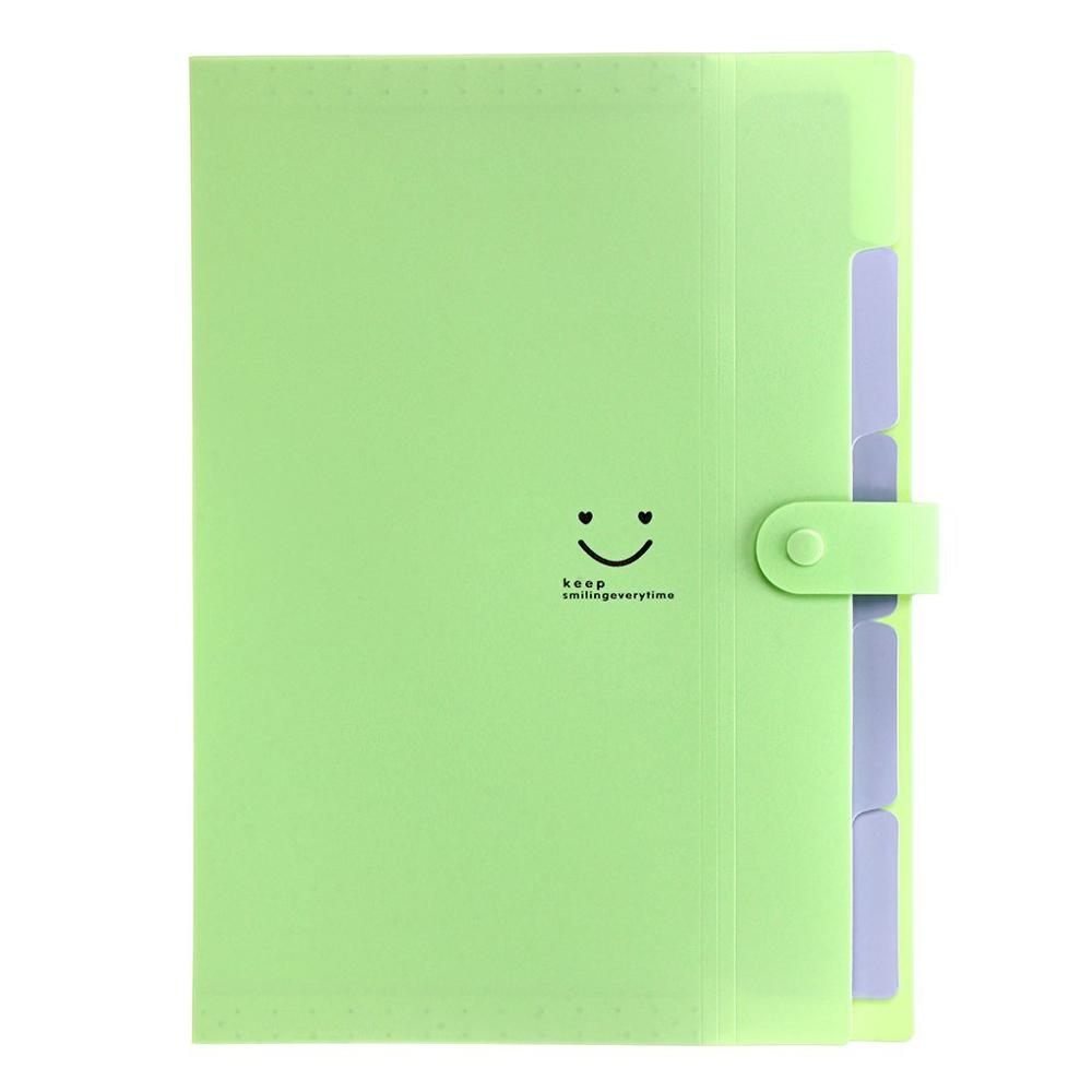 5 Pockets Expanding File Folders Portable A4 and Letter Size Accordion Paper Document Organizer
