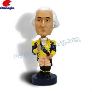 New style Wholesale customized celebrity/notable person plastic bobble head figurine souvenir
