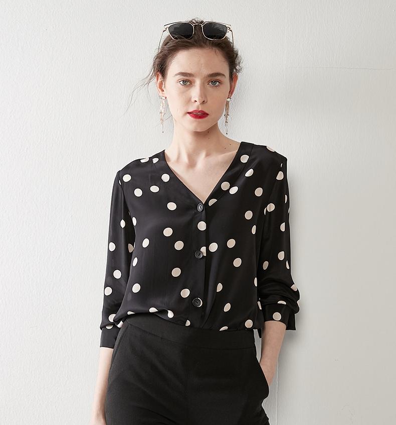 ff46d7b26fa6 Venta al por mayor blusas de seda para damas-Compre online los ...