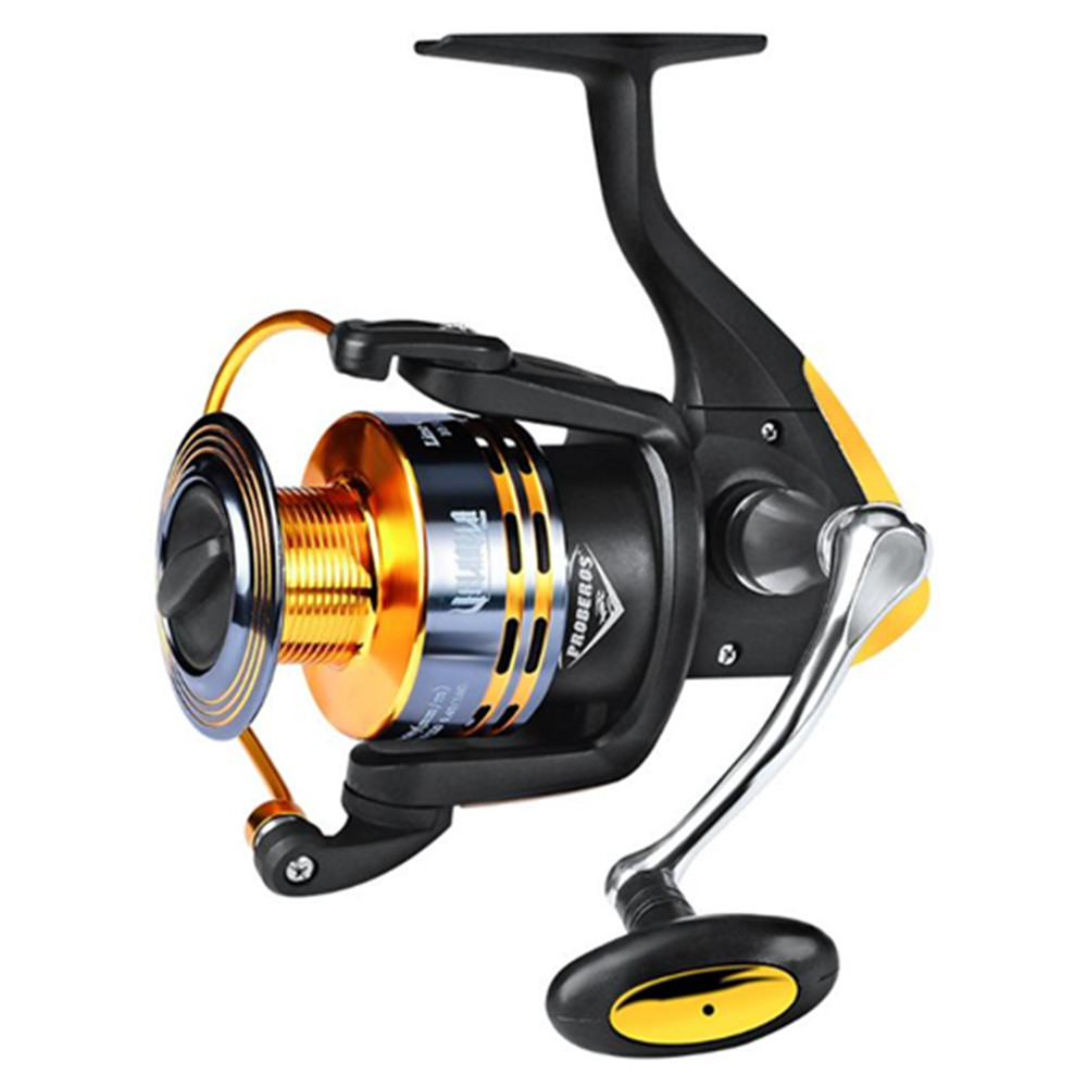 Carp Fishing Reel Spinning Reel Fishing Wheel 11BB Left/Right Sea Metal 5.0:1 Carp Fishing Carretilha De Pesca, Black