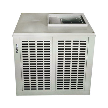 Centrifugal evaporative cooling outdoor air cooler