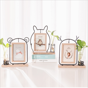 "Creative 6 ""iron art photo frame set ins conjoined two-sided photo frame living room hydroponic picture photo frame"