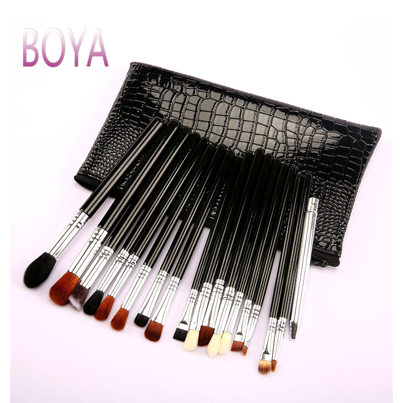 Luxury <strong>Makeup</strong> Brushes Set <strong>Sample</strong> 19pcs Professional <strong>Makeup</strong> Brush Set with PU Black <strong>Makeup</strong> Brush Bag