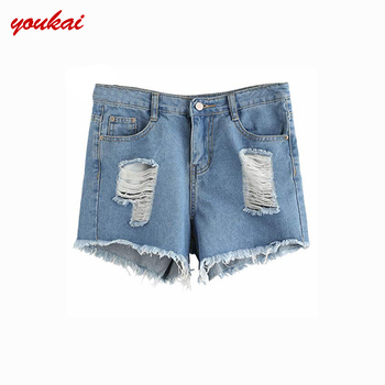 3625e3cb34b Mujer denim baggy jeans sexy jean shorts for women