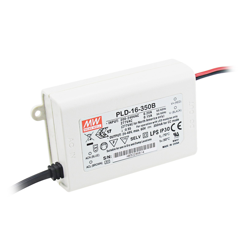 Mean Well PLD-16-1400B 16W 1400mA LED คงที่ LED DRIVER