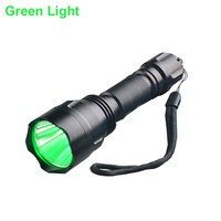Night Hunting Light 1000 Lumen Bright 3W Green Red LED Tactical Hunting Flashlight For Rabbit Coyote Pig Varmint Predator
