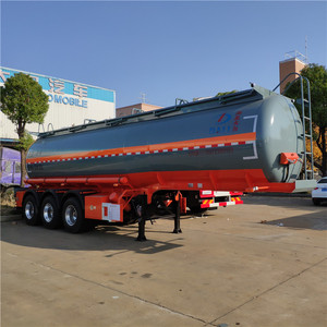 Rubber or PE lining Hydrochloric Acid trailer tank 6000Gallons Caustic soda semi trailer acid for Saudi Arabia
