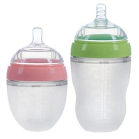 BPA Free 100% Food Grade manufacturers 16oz smart hands free baby silicone milk feeding baby bottle