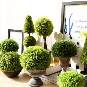 House plant with pot decorative Office Desk indoor decor home artificial plastic bonsai plants