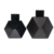 Luxury Designer 100 ml Polyhedral รูป Gloss Black Empty Glass Reed Diffuser ขวดไม้ดอกไม้