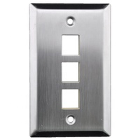 Single gang 3 4 6 port US Type stainless steel A/V Keystone jack wall plate face plate