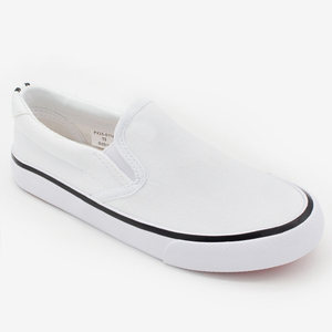 Simple Design Plain White Students Canvas Shoes Cheap Price School Casual Shoe