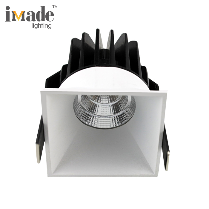 Trimless ספוט אלומיניום למות ליהוק 10 W 20 W 30 W כיכר שקוע COB LED Downlight