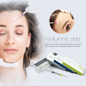 2ml nose/lip/chin injectable derma filler hyaluronic acid price for wrinkle removal