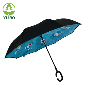 Factory Promotions New Invention manual opens umbrella inverted