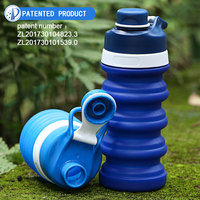 Traveling Foldable BPA Free Silicone Drinking Collapsible Sports Water Bottle With Custom Logo