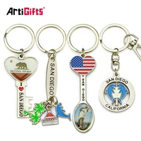 Keychain China Supplier Wholesale Tourist Souvenirs Custom Made Enamel Logo Metal Keychain