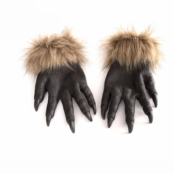 Halloween Costume Carnival Party Soft Spoof Horror Hand Wolf Gloves