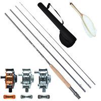 2.6m Wholesale Good Quality Fly Fishing Combo Kit Tackle High Performance 4 piece Fast Action Fly Rod