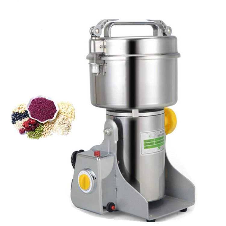 Stainless steel spice grinder rice powder flour grinding machine for home