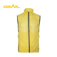 Cheap price fashion outside men reflective sleeveless rain jacket cycling for clothing