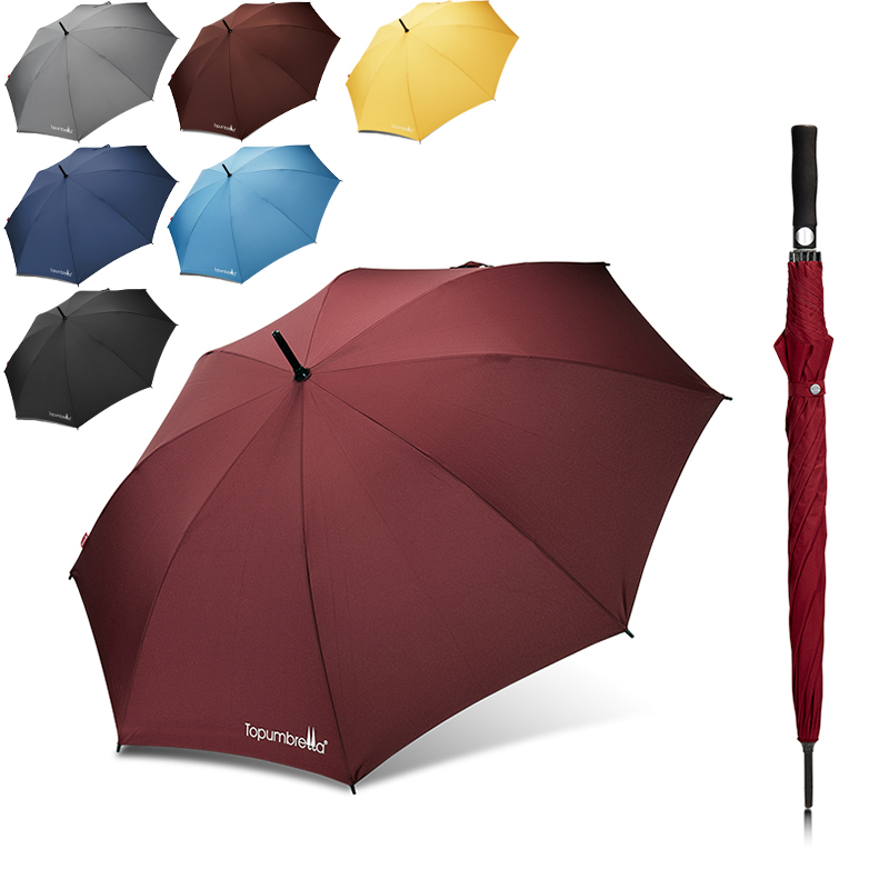 Umbrella Manufacturer factory Custom Auto Open Solid Color Windproof Golf Umbrella