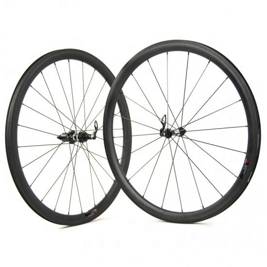 OEM Taiwan Factory 700c carbon bicycle Wheel Sets for depth 38*23 or 25 road bike, Black