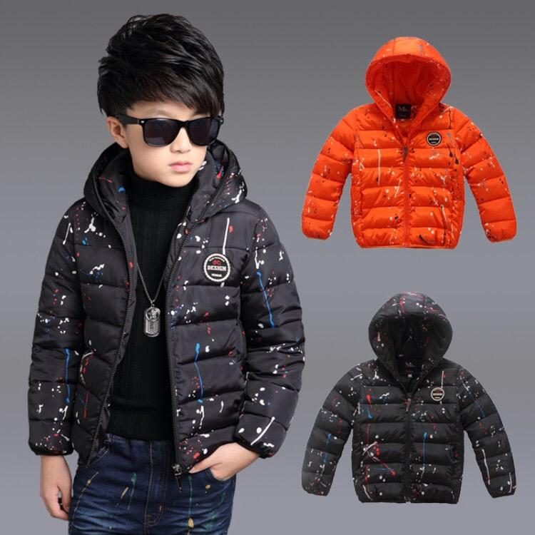 ea9562bb81a13 Sweat à capuche coton-rembourrage vêtements enfants enfants hiver bébé  garçon manteaux