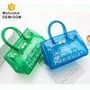 2019 New Designer Women Transparent Handbag Ladies Bags PVC Handbags Custom Tote Shopping Color Candy Clutch Crossbody Jelly Bag