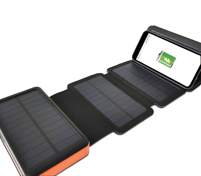 Waterproof outdoor solar charger cell phone portable solar cell powerbank 20000mAh with flashlight