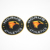 flocking patches fashion  adhesive on backing with your logo embroidered