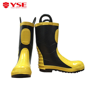 2d18fd4361b Waterproof fireman fire safety boots, View fire safety boots, YSE Product  Details from Shanghai YSE Fire Fighting Equipment Co., Ltd. on Alibaba.com