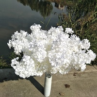 Cheap Wholesale Artificial Flowers Decoration Wedding Silk White Cherry Blossom Branch