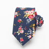 Fashion Flower 100% Cotton Necktie Wholesale