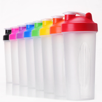600ml sport shaker water bottle drinking protein bottle plastic gym joy and happy shaker bottle