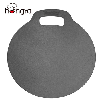 Round Baking Stone Perfect Flat Cast Iron Chapatti Roti Tortilla Pan 12""