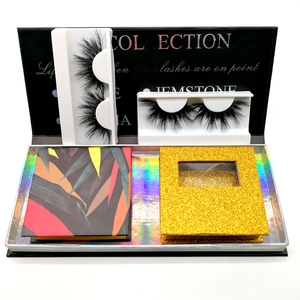 Own Brand Siberian strip lashes3D silk Lashes Private Label mink lash box