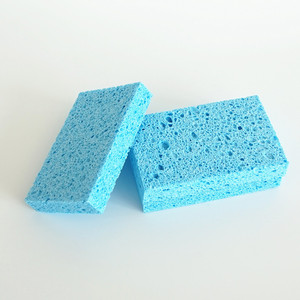 Non-abrasive kitchen cleaning natural Eco-Friendly bulk cellulose sponge block manufacturer