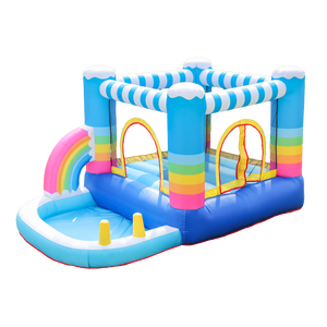 Price Customized Available Mini Water Pvc Fabric Fast Delivery Cowboy Bouncer Jungle Jump Inflatable Bounce House Slide Combo