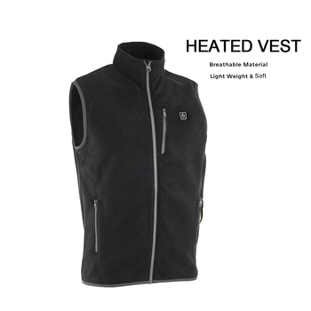 Men Women Heated Vest Lightweight Washable Heating Vest with 8000mAh Powerbank Black Color Waistcoat Size S to XXL