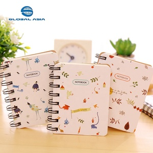 Cheap custom design cute spiral paper notebook journal diary school student business wire-o bound coil note book