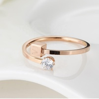 Wholesale price plain rose gold ring for women hot products 2018