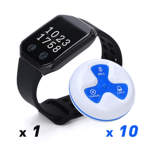 Calling Vibrating Charge Cheap Easy To Operate System Receiver Wrist Remote Wireless Restaurant Waiter 10pcs Call Bell  Hospital