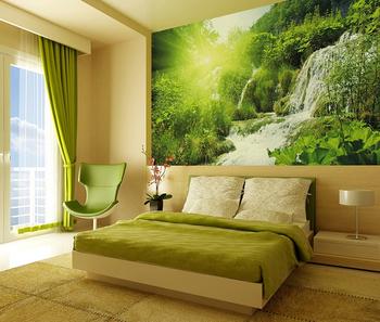 Bon Beau Paysage Naturel Soleil Jungle Style Cascade Peinture Murale Murale  Salon Décor Papier Peint
