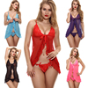 YICAI 5 Colors Midnight Blue Nude Lingerie Open Babydolls Dresses Sexy Transparent Pyjamas