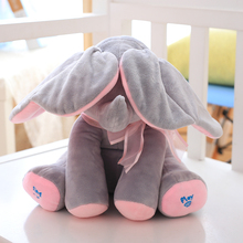 Cheap and fashion Electric Music Plush Soft Baby Elephant Toy