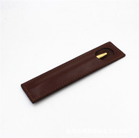 Wholesale Portable Leather Pen Pouch Single Design Custom Pencil Case